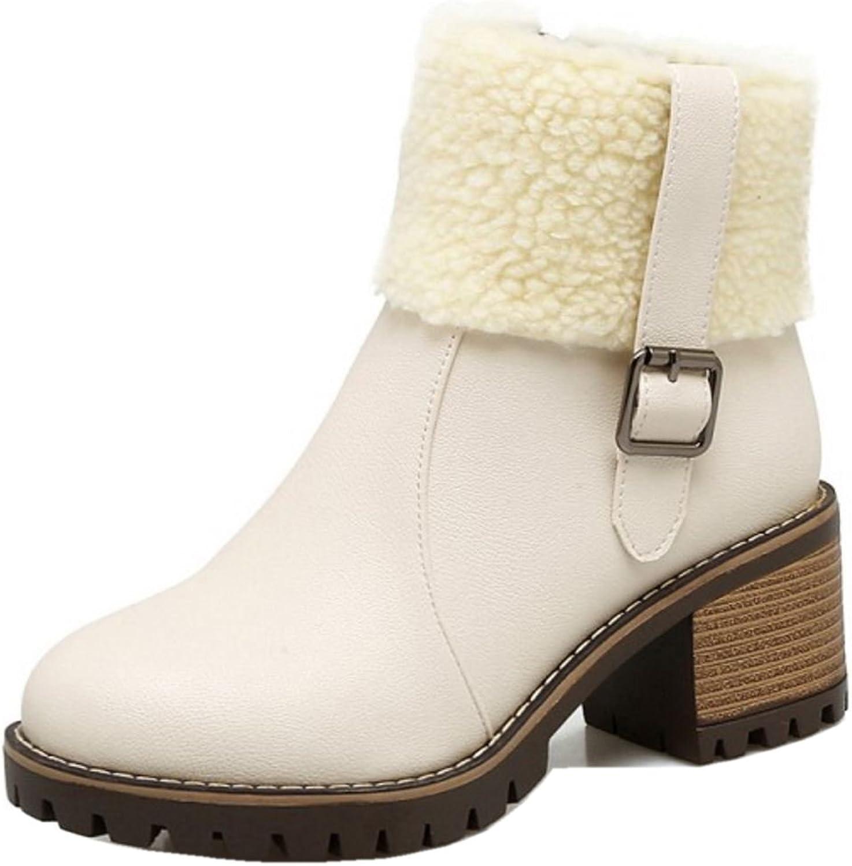 FANIMILA Women Fashion Chunky Boots
