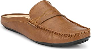 JHAMNANI Men's Casual/Back Open/Loafers Shoes