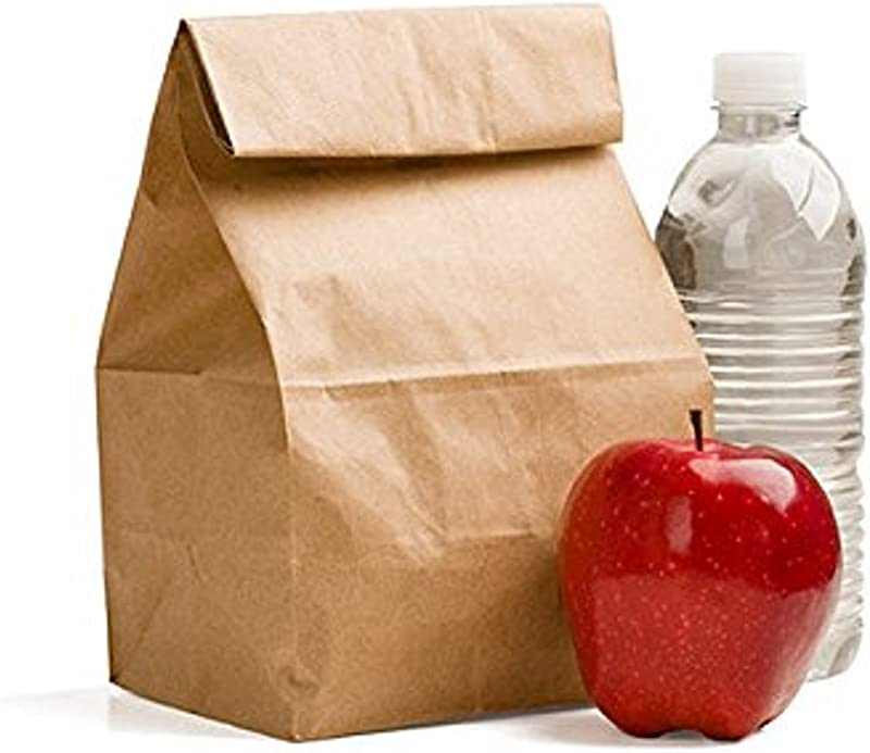 Green Direct Perfect Durable Brown Paper Lunch Bags Size Medium For All Ages Pack Of 100