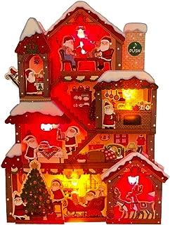 Illuminated Santa Claus Christmas Home Lights and 20 Melodies Pop Up Greeting Card