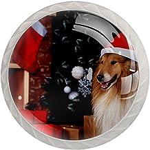 Lade knop Pull handvat 4 stuks Crystal Glass Cabinet lade trekt kast knoppen, Kerstmis