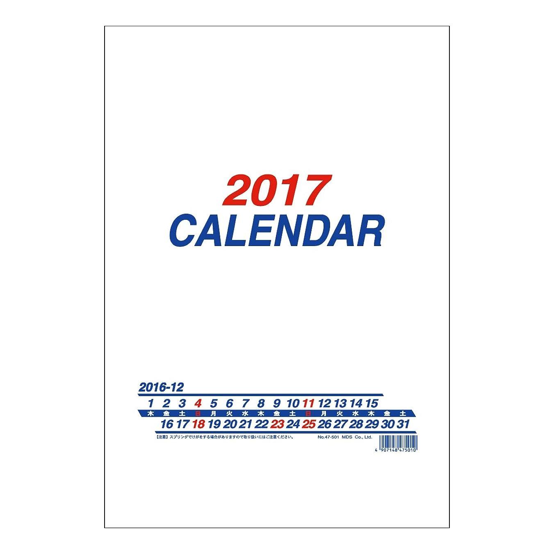 型決定的挑むMDS 2017年 カレンダー 壁かけ B4 47-501