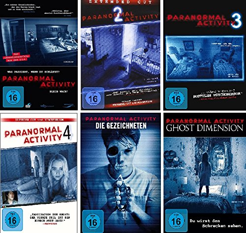 Paranormal Activity - 6 DVD Set (Teil 1-4 + die Gezeichneten + Ghost Dimension) - Deutsche Originalware [6 DVDs]