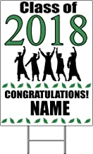 2018 GRADUATION GREEN YARD SIGN (1 EACH) by Partypro