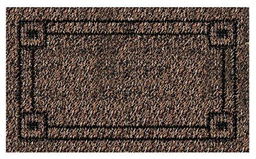 GrassWorx Clean Machine Metro Doormat, 18u0022 x 30u0022, Black Forest (10371832)