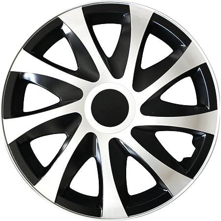 Eight Tec Handelsagentur Farbe Größe Wählbar 14 Zoll Radkappen Radzierblenden Draco Bicolor Schwarz Weiß Passend Für Fast Alle Fahrzeugtypen Universal Auto