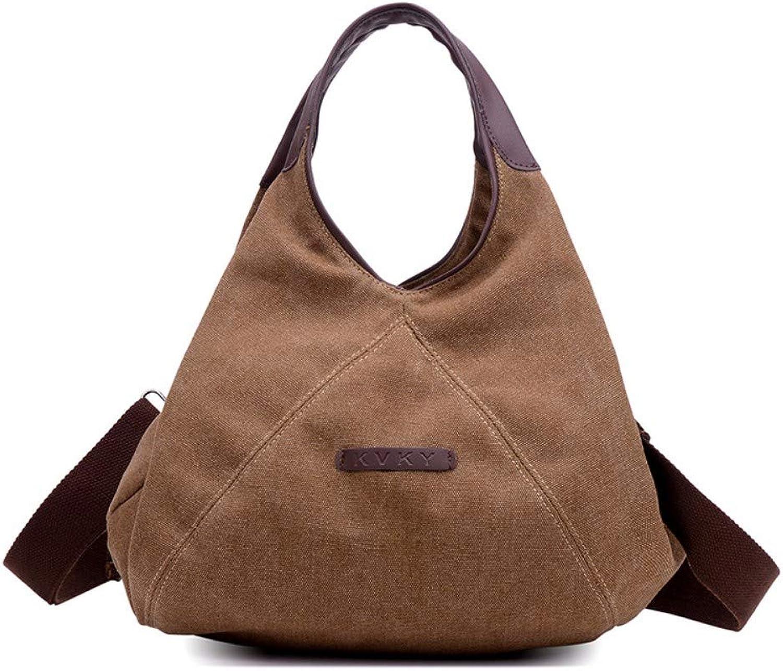 Zypxiekuabao Canvas Tasche Handtasche Tasche Umhängetasche Umhängetasche Wild Lässig Einfache Reisetasche Braun B07QF69LCD  Zuverlässige Leistung