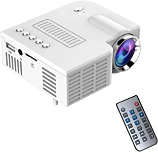 Qjoy Home Projector Portable UC28 PRO HDMI Mini LED Home Cinema Theater AV VGA USB US Plug