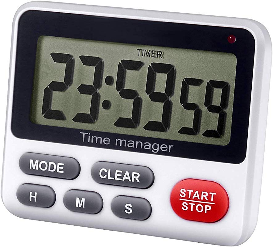 Zealforth Digital Kitchen Countdown Timer Magnetic Count Up Down Cooking Timer Clock With Alarm