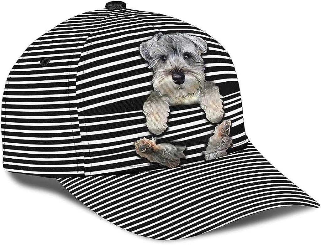 Customized Name 3D shop Max 53% OFF Printed Cap Classic Schnauzer Hi Says Hat