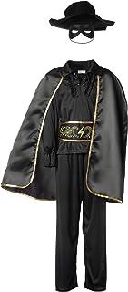 dressforfun 900518 - Disfraz de Chico de Zorro, Traje de El Zorro Negro, Incluye Capa Máscara y Sombrero (152 | No. 302591)