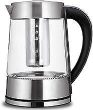 2L glazen waterkoker, 1500 W snelkook theewaterkoker, variabele temperatuur, afneembaar theefilter, warm houden