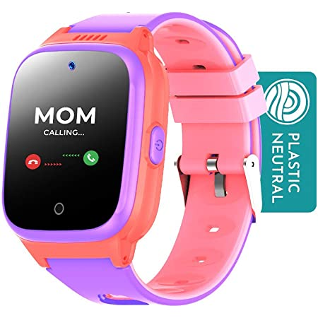 Cosmo JrTrack Kids Smartwatch   Pink   Voice & Video Call   GPS Tracker   SOS Alerts   Water Resistant   Blocks Unknown Numbers   SIM Card Included   Class Mode   Perfect for Back to School