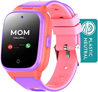 Cosmo JrTrack Kids Smartwatch | Pink | Voice & Video Call | GPS Tracker | SOS Alerts | Water Resistant | Blocks Unknown Nu...