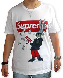 402f305573cb3f VeraPrint T-Shirt Maglia Bugs 001 - Replica Supreme - Uomo Donna Unisex -  Bianca