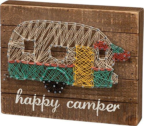 Happy Camper String Art Wood Box Sign