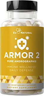 Armor 2 Andrographis Pure 800 Mg – Healthy Immune System Function, Physical Wellness, Potent Strength for Seasonal Protect...