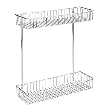 InterDesign Classico 2-Tier Shelf Cabinet Organizer for Kitchen or Bathroom - Chrome