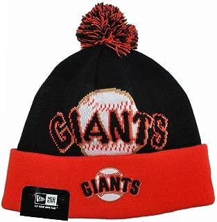 New Era San Francisco Giants Mlb Baseball Beanie Unisex One Size Knit Black/orange