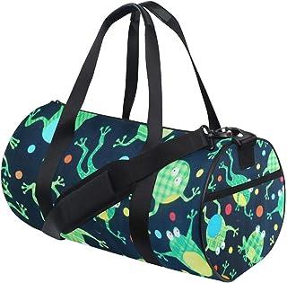 OuLian Womens Gym Bag Cartoon Frog Red Heart Mens Duffel Bags Duffle Luggage Travel Bag