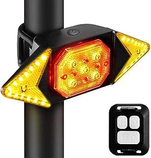Ewolee 自転車 テールライト LED バイク ウインカー ライト ワイヤレス式 防水USB 充電式 リアライト 自転車用方向指示器 リモコン付き