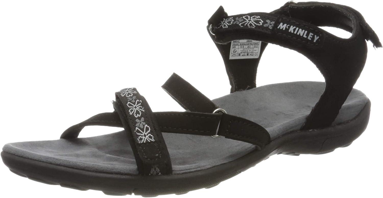 McKINLEY Women's Aruba Sport Sandal, Schwarz Black Anthracite 900, 8