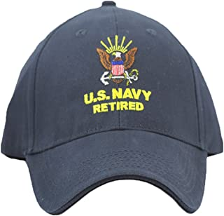 US Navy Retired Cap for Men and Women United States Navy Retired Military Hats