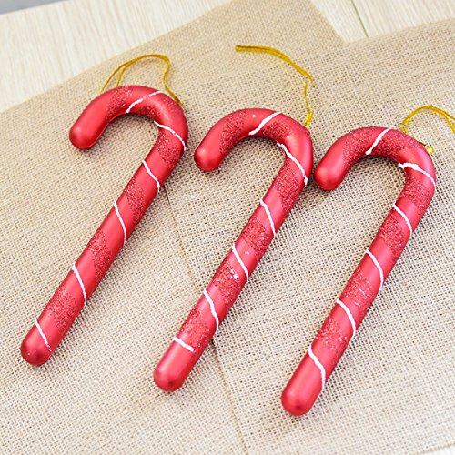 Natale 21cm Verniciato Natale Stampelle Placcatura Piccolo Bastone Regali Di Natale Ciondolo Ornamenti Albero Di Natale