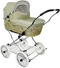 EICHHORN Weidenkorb Kinderwagen Korb Natur Stoff Beige