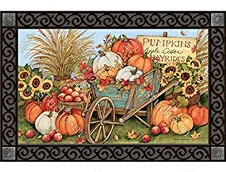 MatMates Pumpkin Wagon Doormat #10111