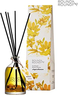 [ROUND A'ROUND] Dryflower Room Scents 145ml / Pure and Fresh Floral Scent Perfumed Reed Diffuser for Home and Room, Fragrant Homes, Rooms, Office, Bathroom, Living room (Chrysanthemum)