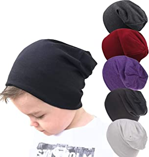Toddler Cotton Beanies for Boys Baby Warm Slouchy Skullcap Hats Infant Baby Toddler Beanie Knit Caps for 6-60 Months