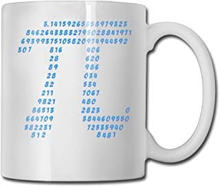 Pi π Science Mathematics Ceramic Cup (11 Ounce) Two Side Print By CarterHill - Best Gift For Birthday,Christmas And New Year