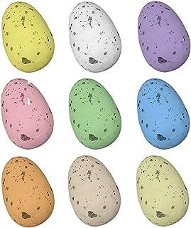 9Pcs Simulation Colorful Plastic Easter-Eggs Bright PlasticEggs Decorations DIY