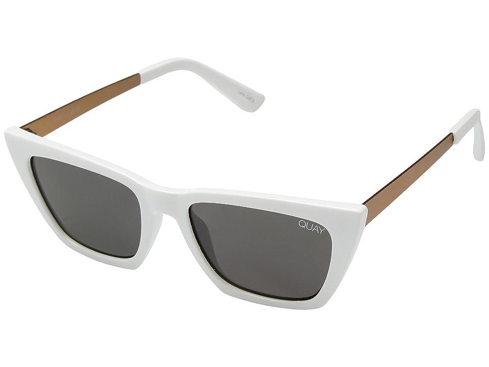QUAY AUSTRALIA #QUAYXDESI Don't @ Me (White/Smoke) Fashion Sunglasses
