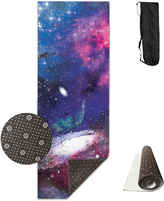 Galaxy Galactic Dreams NONSLIP & Skidless Yoga Mat, Stop Slipping During Bikram, Pilates & Hot Yoga, Hot Yoga Towel