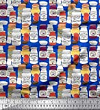 Soimoi Blau Seide Stoff Erdnussbutter und Marmelade jar