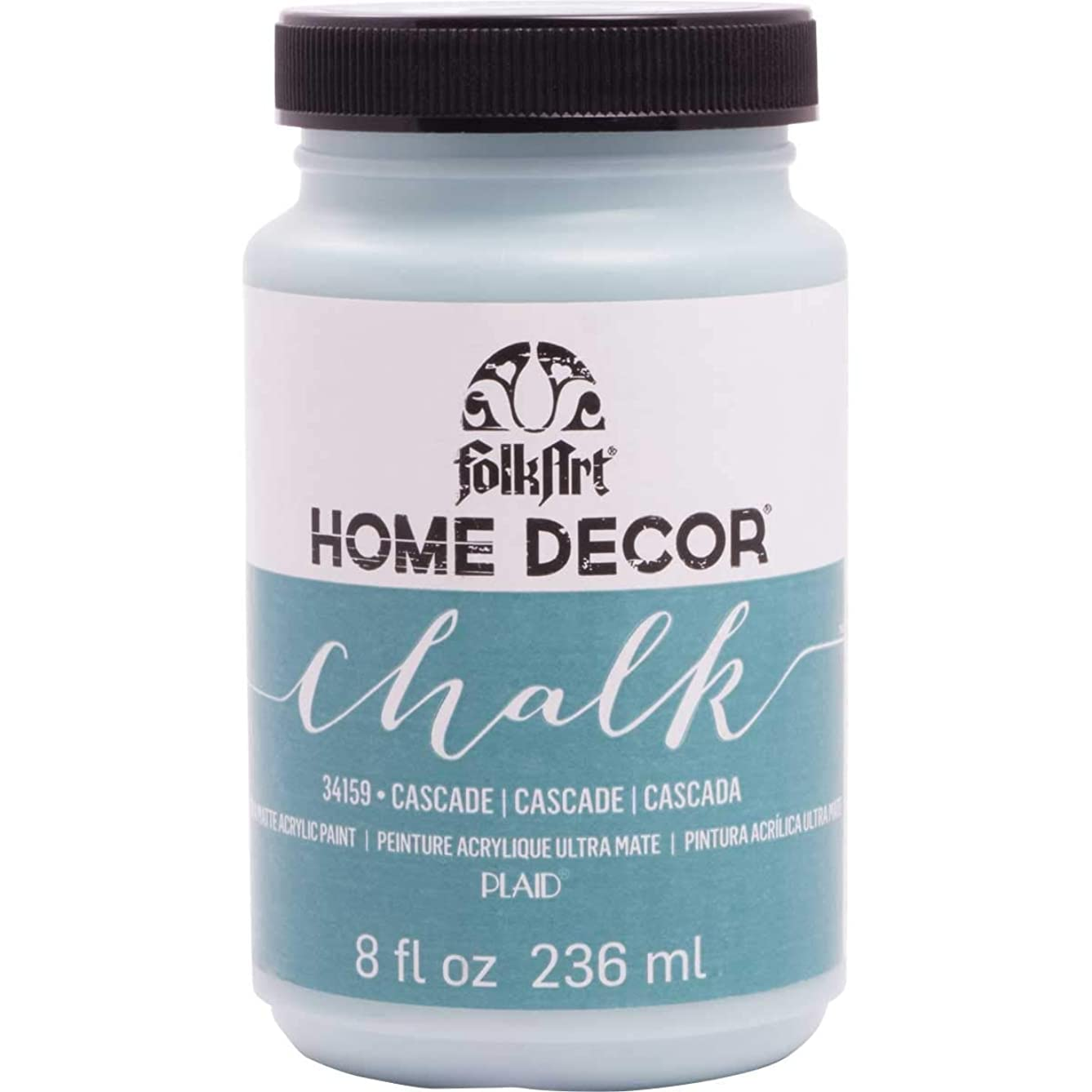 FolkArt Home Decor Chalk Furniture & Craft Paint in Assorted Colors (8 Ounce), 34159 Cascade
