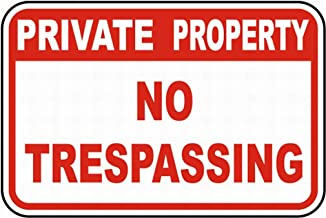 SUPVIVI Private Property No Trespassing Safety Sign Notice Sign Warning Sign 8 x 12 Tin Metal