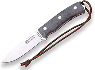 Joker Bushcraft Bushcrafter Knife CV120-P, 4.13 inches Blade in Böhler N695 Steel and Leather Sheath with Fire Starter, Tool for Fishing, Hunting, Camping and Hiking