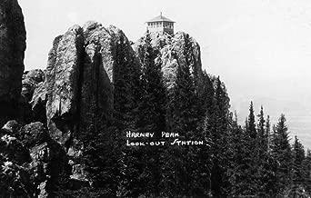 Black Hills National Forest, South Dakota - Harney Peak Look-out Station - Vintage Photograph 31874 (24x36 SIGNED Print Master Art Print - Wall Decor Poster)