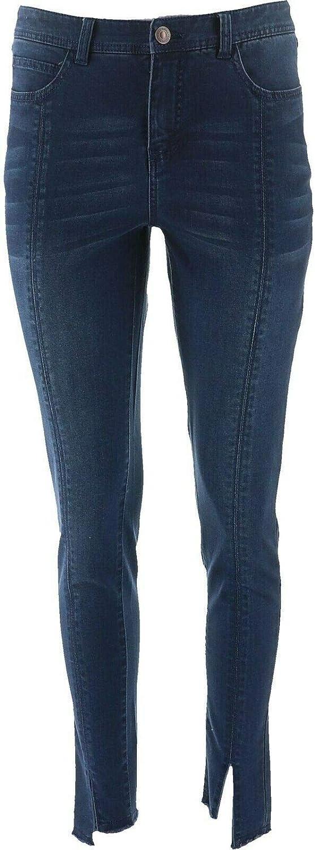 Lisa Rinna OFFicial store Collection Regular dealer Indigo Skinny Jean Hem A367839 Slit Ankle