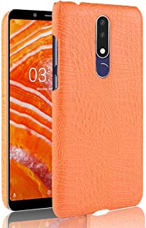 Classic Business Flip Cover [Ultra Slim] Luxury Classic Crocodile Skin Pattern Seamless PU Leather Anti-scratch Protective Hard Case Cover For Nokia 3.1 Plus Durable And Sensitive Phone Case