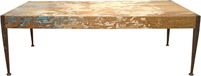 Moe's Home Collection AX-1001-37 Astoria Mango Wood Coffee Table, Distressed