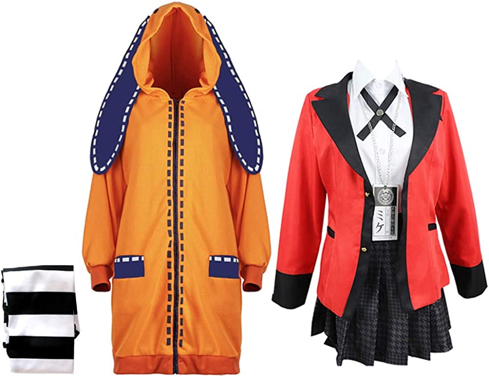在庫処分 Yumeko オンラインショッピング Jabami Cosplay Costume Kakegurui Yomoduki Cos Runa Jacket