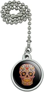 GRAPHICS & MORE Skull Day of The Dead Southwestern Ceiling Fan and Light Pull Chain