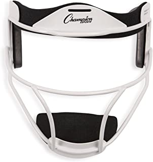 Champion Sports Softball Face Mask - Durable Baseball Fielder Head Guards - Premium Sports Accessories for Indoors and Outdoors - Available in Magnesium or Steel in Multiple Colors and Sizes