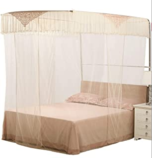 WXL Mosquito net Home Textile Guide Rail Retractable Princess Wind U Type 1.8m Household 1.5m Bed (Color : Jade, Size : 1.2CM)