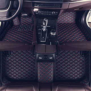8X-SPEED Custom Car Floor Mats for BMW 2 Series Coupe F22 220i 228i M235i M240i 2014-2018 2015 2016 2017 Full Coverage All Weather Protection Waterproof Non-Slip Leather Liner Set Black red