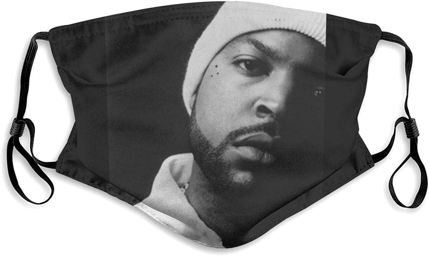 Aagsg Ice_Cube Dust Face Mask with Filter Washable Windproof Bandanas Balaclava Safety Mouth Cover for Men Women